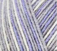 Picture of Comfort Worsted - Grey & Lavender Print - NIL STOCK