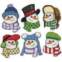 Picture of Snowmen In Hats - 6 Piece Kit - NIL STOCK